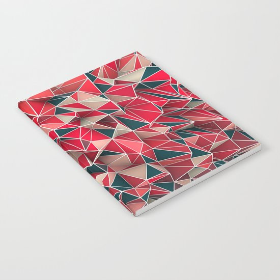 Abstract Red Notebook