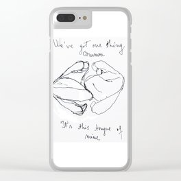 """Artwork inspired by the lyrics of The 1975's """"Sex"""" Clear iPhone Case"""