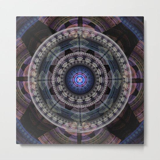 Modern mandala with tribal patterns Metal Print