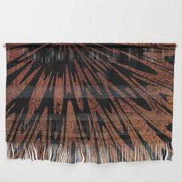 Native Tapestry in Burnt Umber Wall Hanging