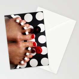 Rosy Toes Stationery Cards