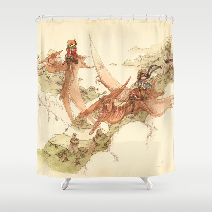 At The End Of World Shower Curtain