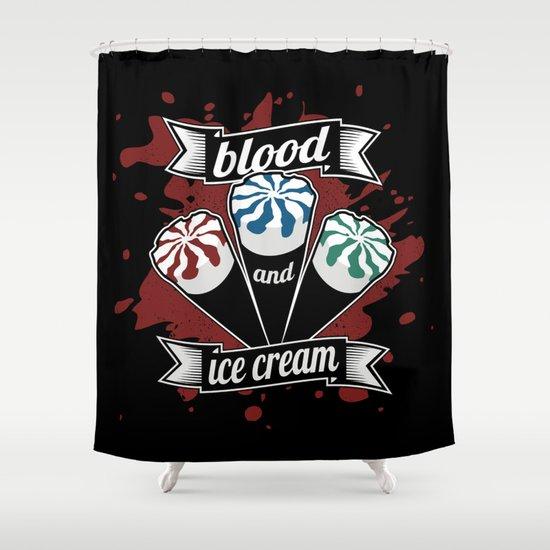 Blood & Ice Cream Shower Curtain