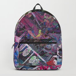 Spider-Gwen Geek Art Comic Collage Superhero Comic Book Art Backpack