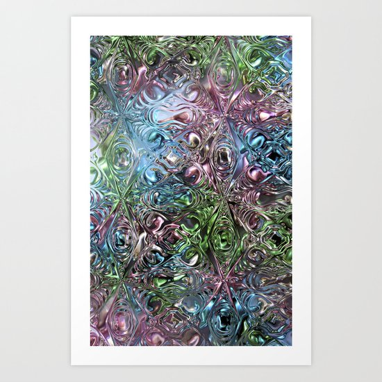 Liquid Bling Art Print