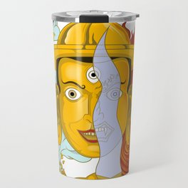 Buddhist deity Travel Mug