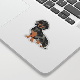 Dapple Dachshund doxie lover floral must have gifts dachsie flowers Sticker