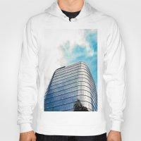 building Hoodies featuring Big Building by Mauricio Santana