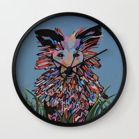 wiz khalifa Wall Clocks featuring Wiz by Sartoris ART