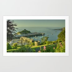 Ilfracombe Harbour Summer Art Print