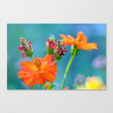 Ginger Dahlias - why not 53 Canvas Print