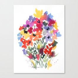 Bright Wildflower Field Canvas Print