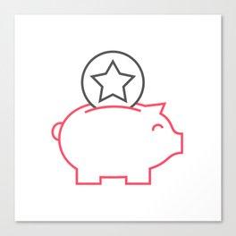Piggy box Canvas Print