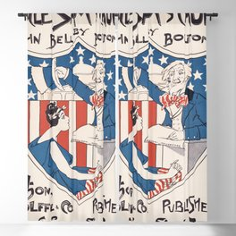 Uncle Sam's church (1895) poster in high Blackout Curtain
