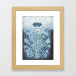 Flower lady Framed Art Print