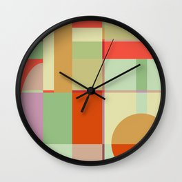 Sunset Quilt Wall Clock