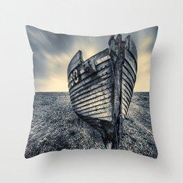 Broken Boat Throw Pillow