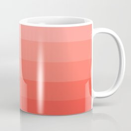 Living Coral Light to Bright Gradient Coffee Mug