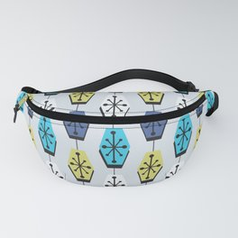 Mid Century Modern Hexagons Turquoise Fanny Pack