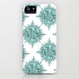 crystal clear Christmas snow iPhone Case
