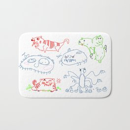 Cute doodles Bath Mat