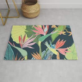 Tropical Bird of Paradise Rug