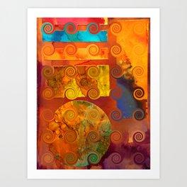Curlicue Universe Art Print