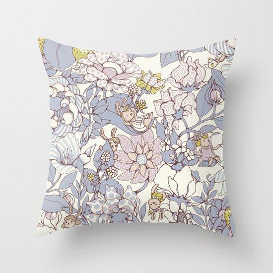 Garden party - jasmine tea version Throw Pillow