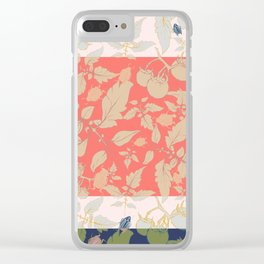 Tomatos and beetles - Pantone palete - mix colors Clear iPhone Case