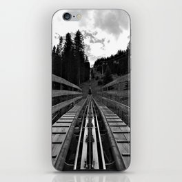 adventure park hög schneisenfeger coaster alps sfl tyrol austria europe black white iPhone Skin