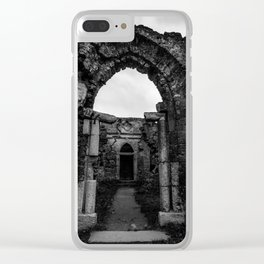 Shadows of the past Clear iPhone Case