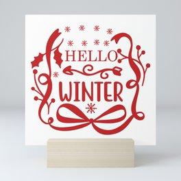 Hello Winter-2 Mini Art Print