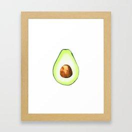 Half Avocado. Tropical Fruit. Framed Art Print