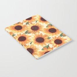 Happy Orange Sunflowers Notebook