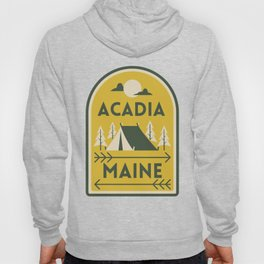 Acadia National Park Maine Camping Tent Vintage Travel Hoody