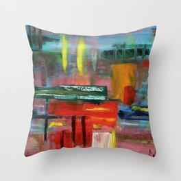 Amanda - Abstract oil pattern Throw Pillow