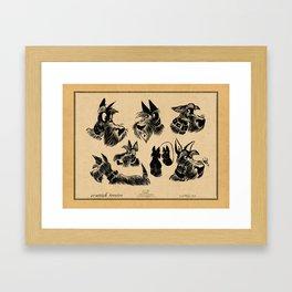 Brush scotties Framed Art Print