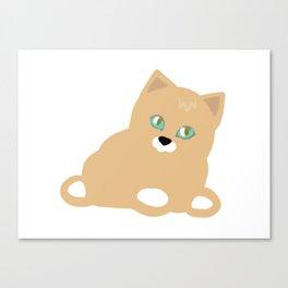 Cat yellow Canvas Print