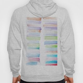23  | 181101 Watercolour Palette Abstract Art | Lines | Stripes | Hoody
