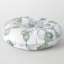 Eucalyptus Green Watercolor Floor Pillow