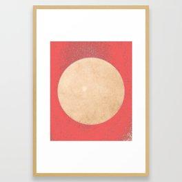 Imperial Coral - Moon Minimalism Framed Art Print