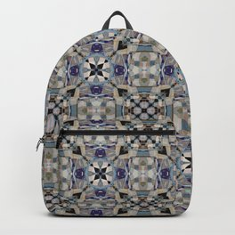 Gothic Cross Arrow and Diamond Tile Pattern Backpack