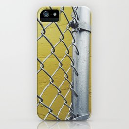Silver Fence iPhone Case