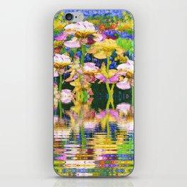 YELLOW IRIS WATER GARDEN REFLECTIONS iPhone Skin