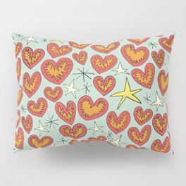 lightning hearts Pillow Sham