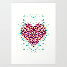 A heart is made of bits and pieces Art Print