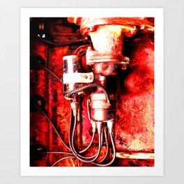 Red Engine Art Print