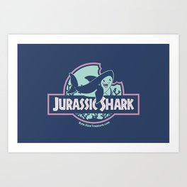 Jurassic Shark - Great White Shark Art Print
