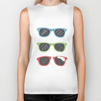 sunglasses Biker Tanks featuring Sunglasses by Things and Other Things