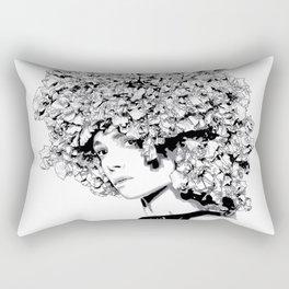 Fashion portrait illustration haute couture Valentino inspired design Rectangular Pillow